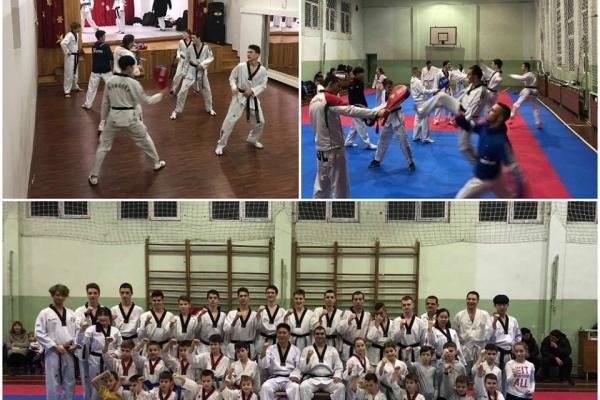 На гости на Taekwondo club Ramus – корейските инструктори от Taekwondo Peace Corps.